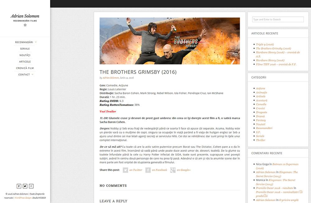 Presentation WP site