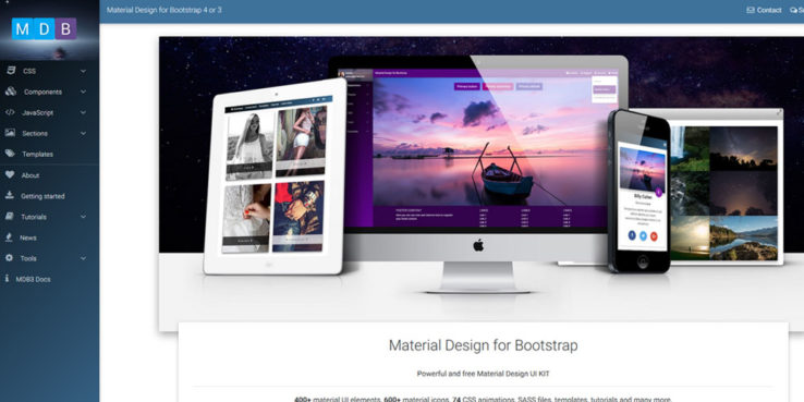 Material Design and Bootstrap